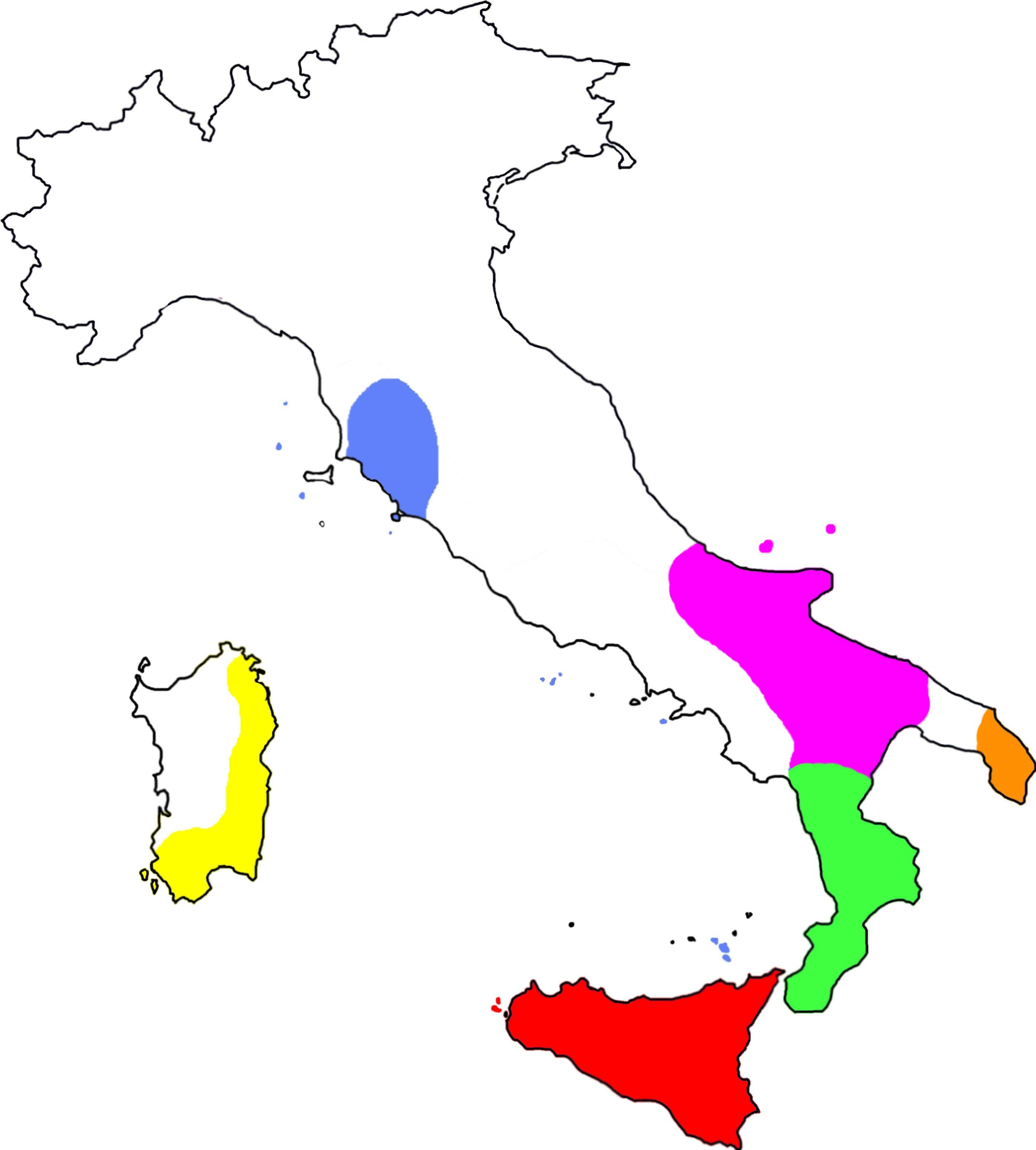 distribuzione in Italia del complesso di specie di Euscorpius sicanus